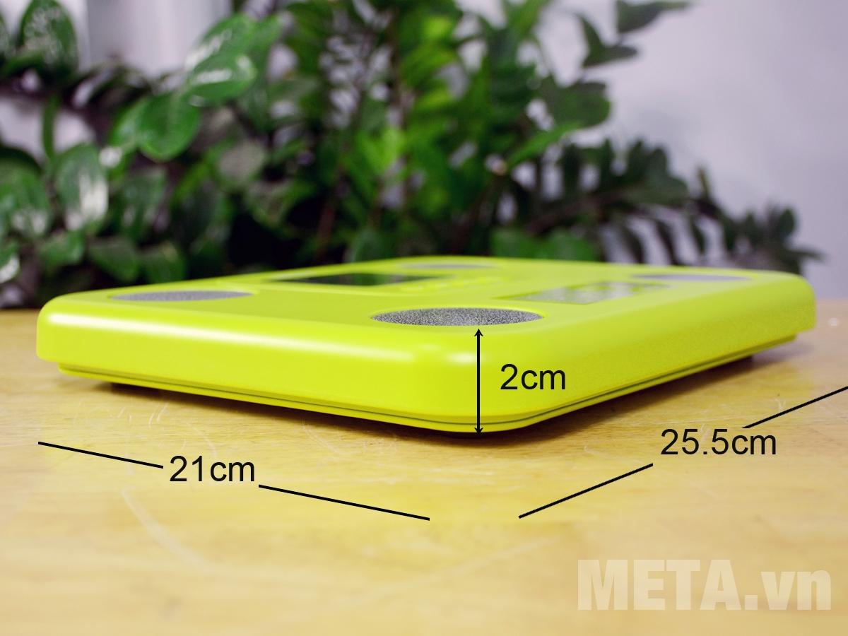 Kích thước cân sức khỏe điện tử Tanita BC-730