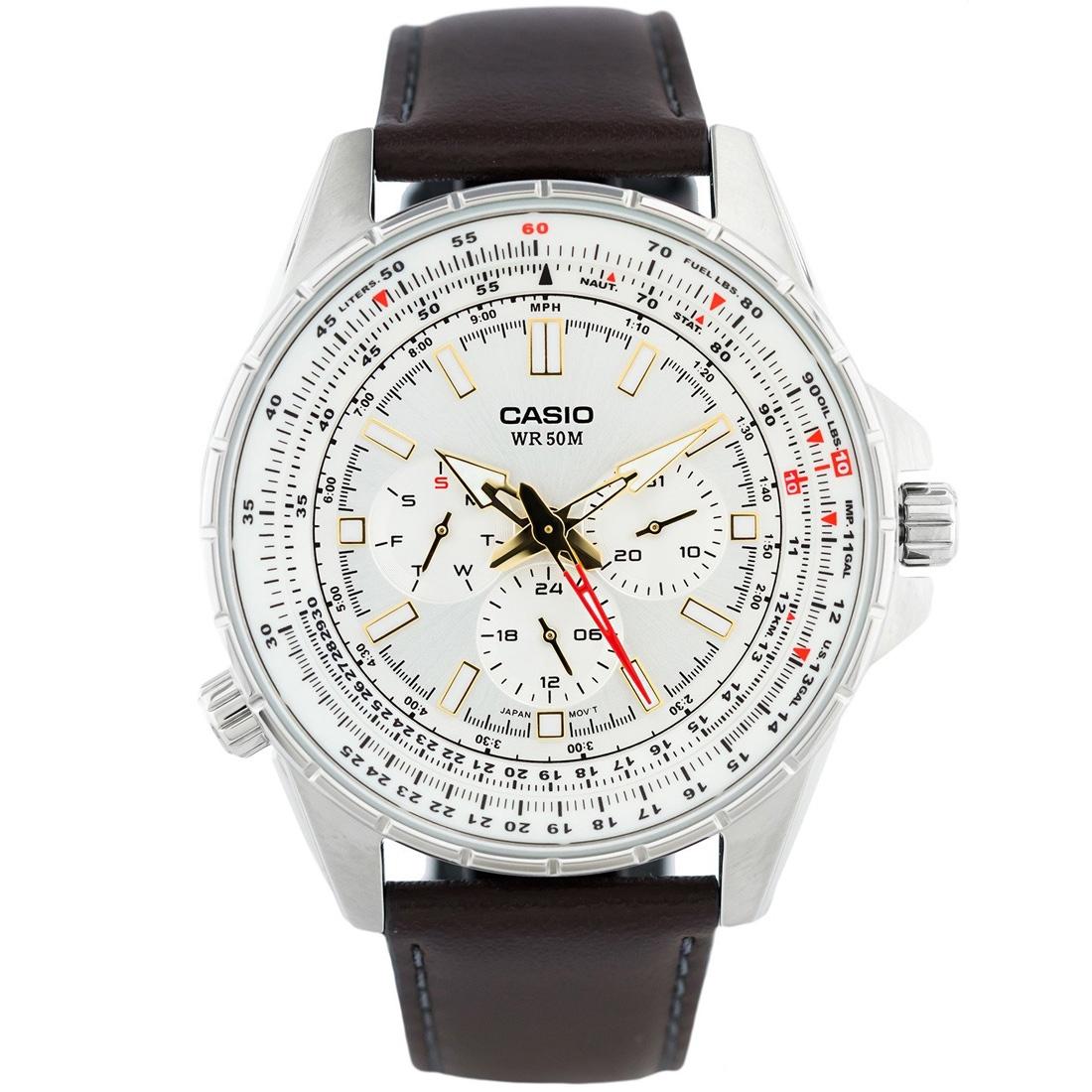 Đồng hồ nam Casio MTP-SW320L-7AVDF dây da