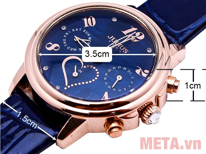Các kích thước của đồng hồ