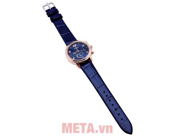 Đồng hồ nữ Julius JA-844 có dây da chắc chắn