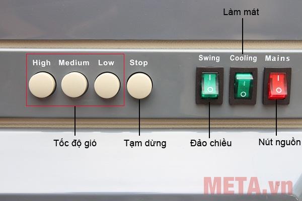 Bảng điều khiển của máy làm mát Air Cooler FujiE AC-40B