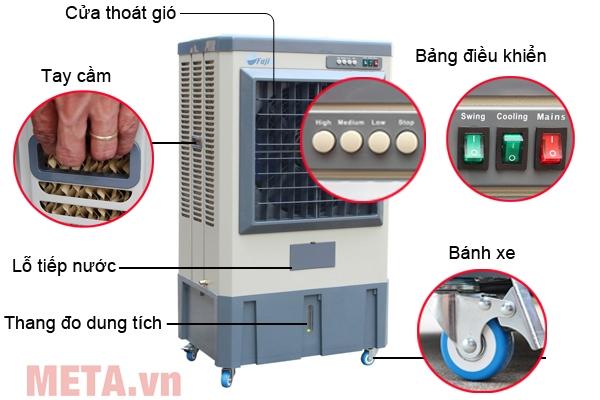 Cấu tạo máy làm mát gia đình Air Cooler FujiE AC-40B