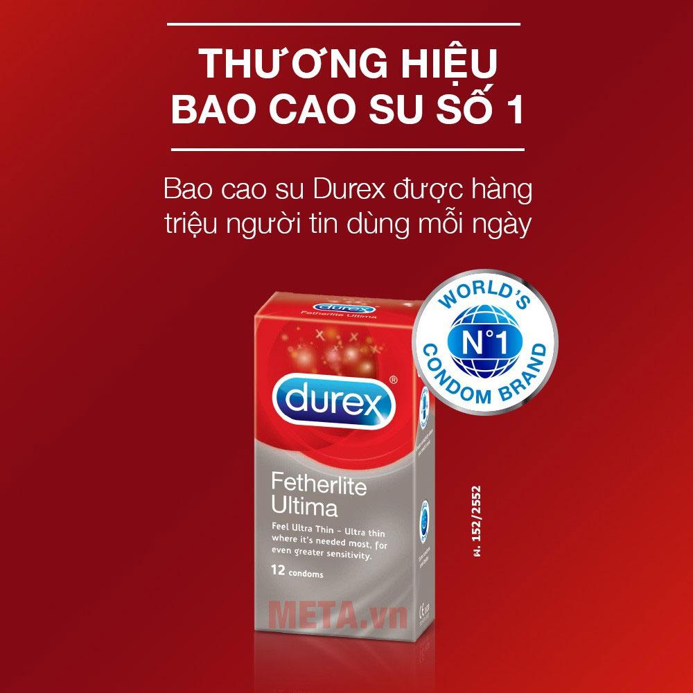 Durex là thương hiệu bao cao su bán chạy nhất thể giới