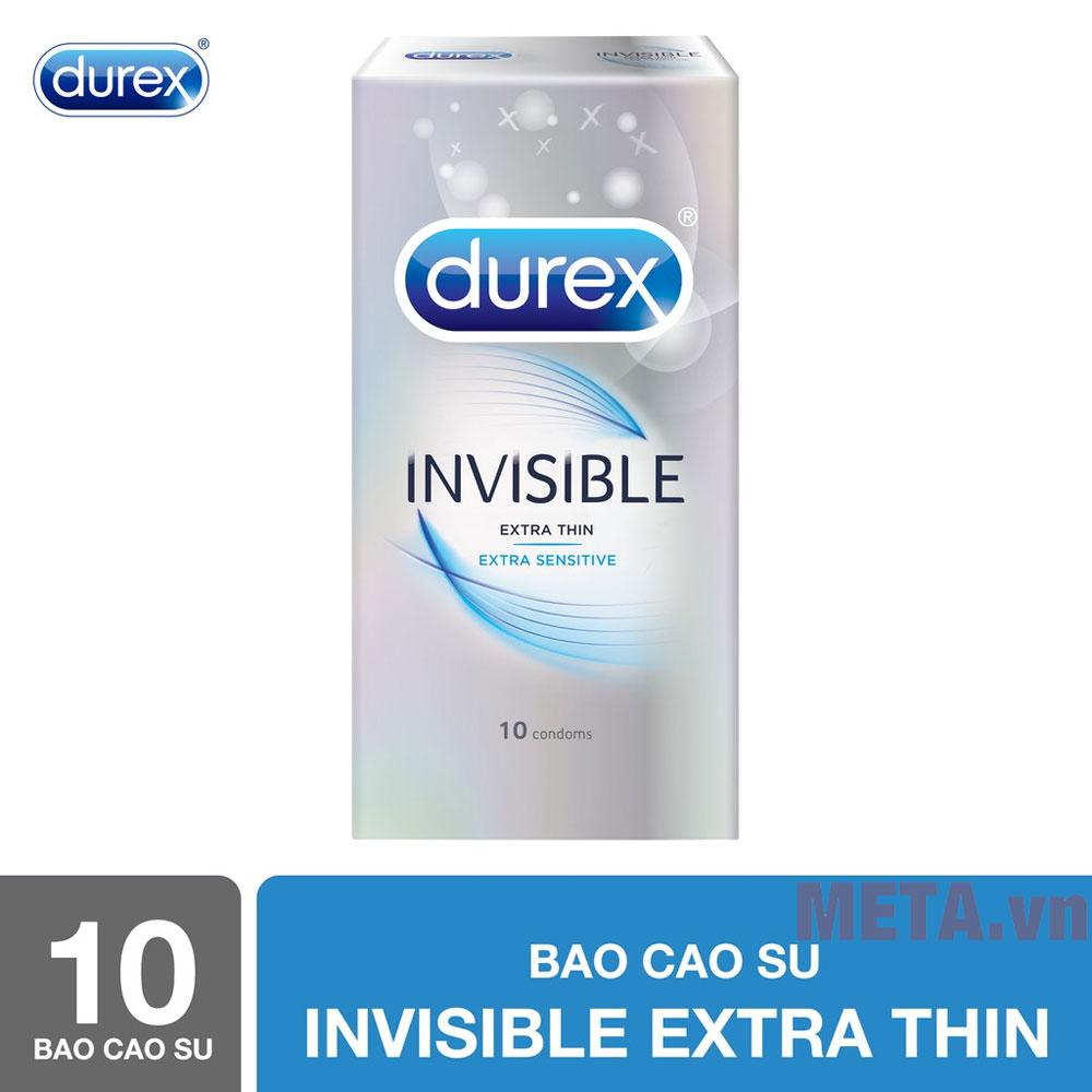 Durex Invisible Extra đóng hộp 10 gói