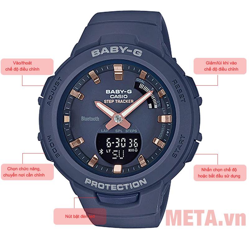 Các nút chức năng trên đồng hồ