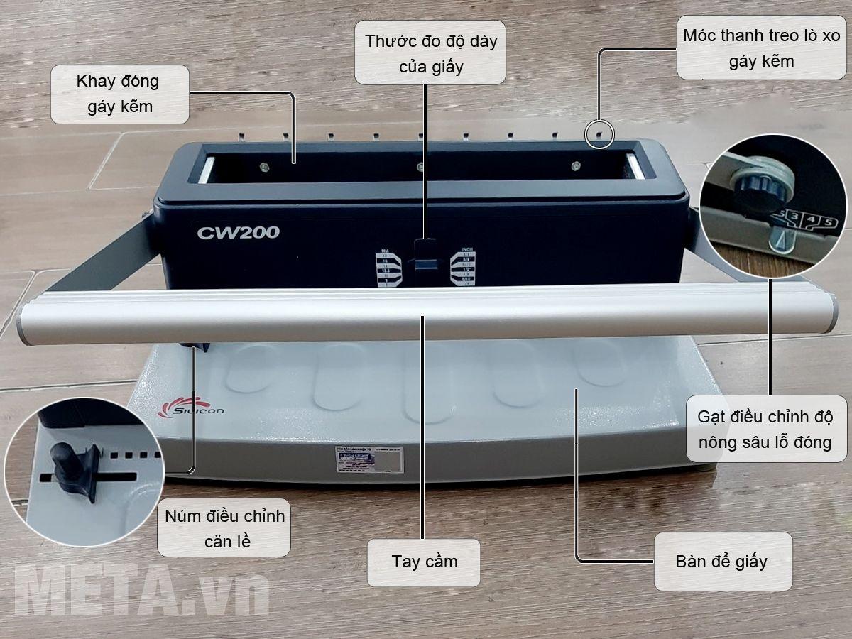 Cấu tạo máy đóng sách Silicon BM-CW200