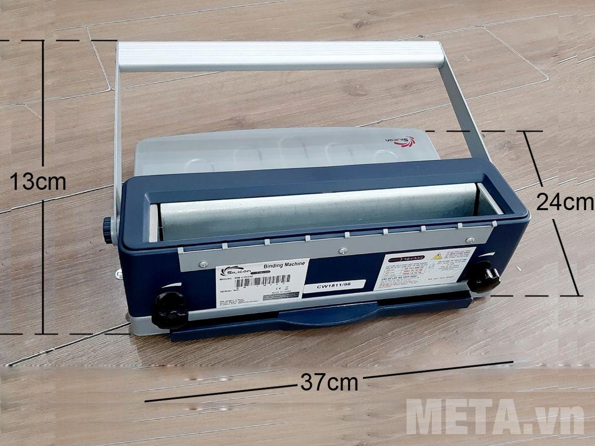 Kích thước thực tế máy đóng sách Silicon BM-CW200