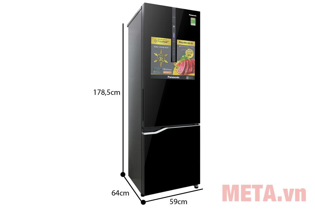 Kích thước Tủ lạnh Inverter Panasonic