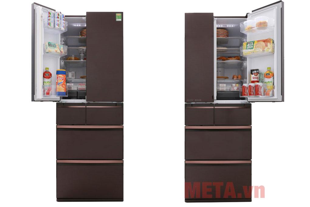 Tủ lạnh Mitsubishi MR-WX53Y-BR-V - 506L có 6 cánh