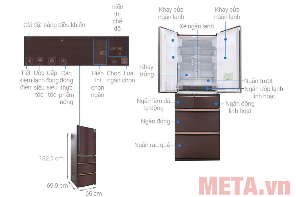 Các chi tiết của tủ