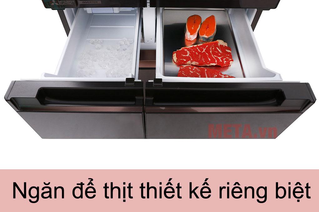 Tủ có ngăn đồng mềm và ngăn để thịt riêng biệt