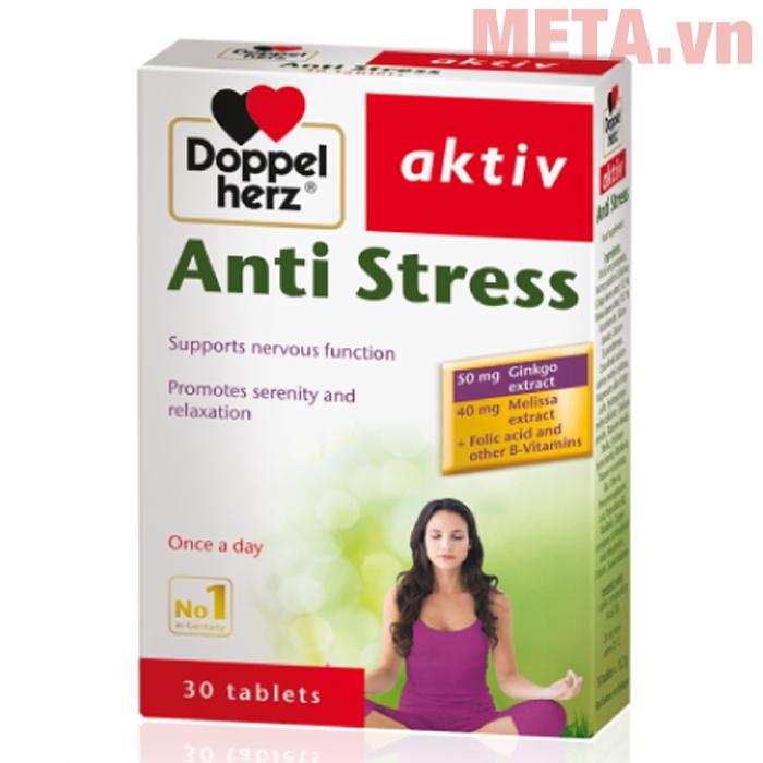 Thực phẩm bảo vệ sức khỏe Doppelherz Aktiv Anti Stress giúp giảm đau đầu, ngủ ngon...