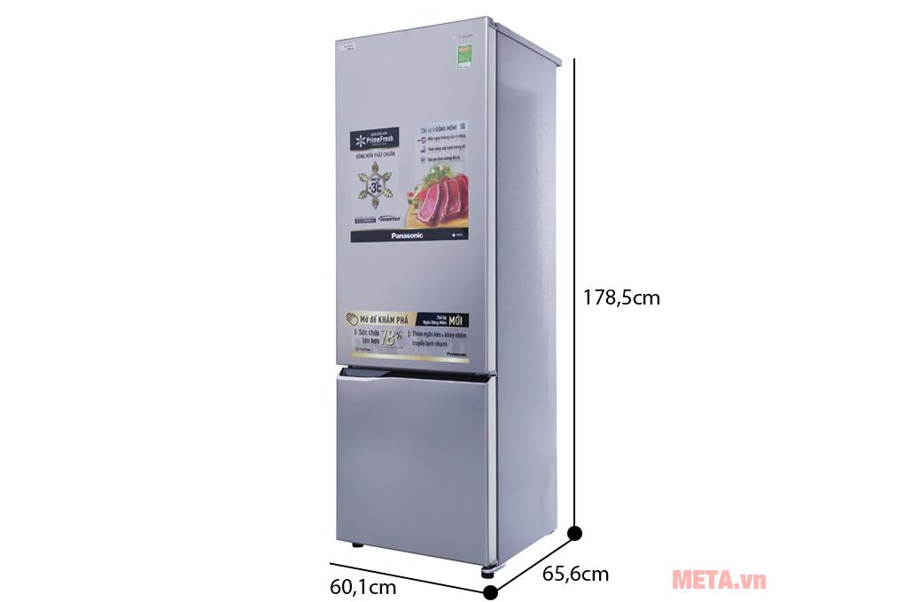 Kích thước của tủ lạnh Panasonic