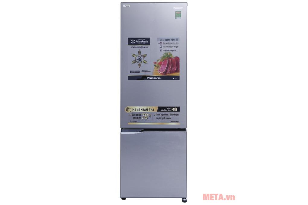 Tủ lạnh Panasonic màu xám