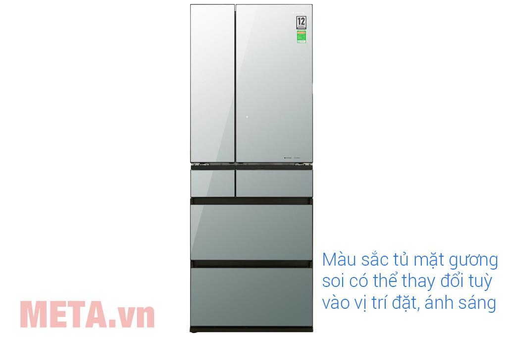 Tủ lạnh side by side mặt gương