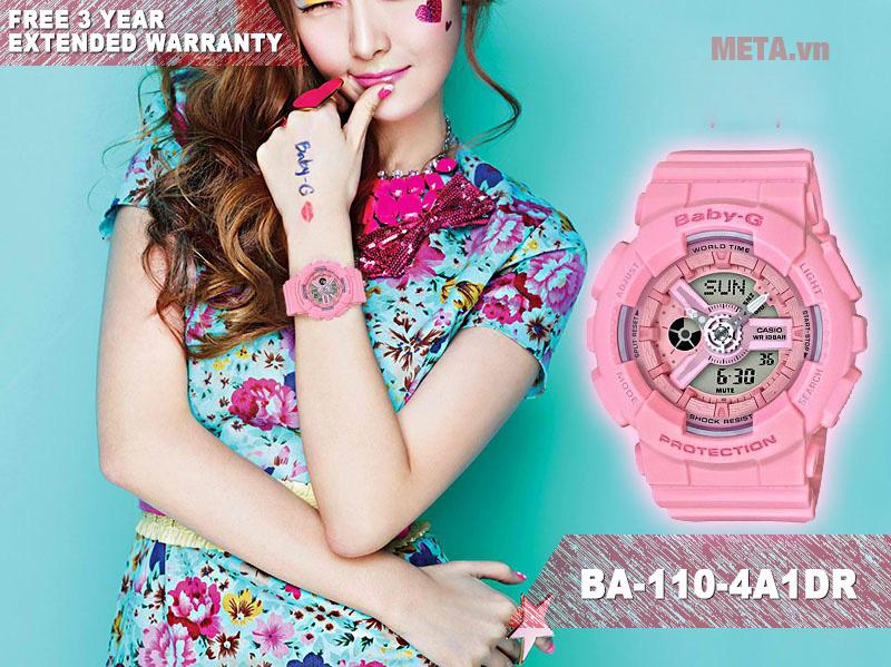 Đồng hồ nữ Baby-G BA-110-4A1DR hồng