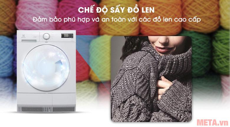 Máy sấy an toàn với đồ len