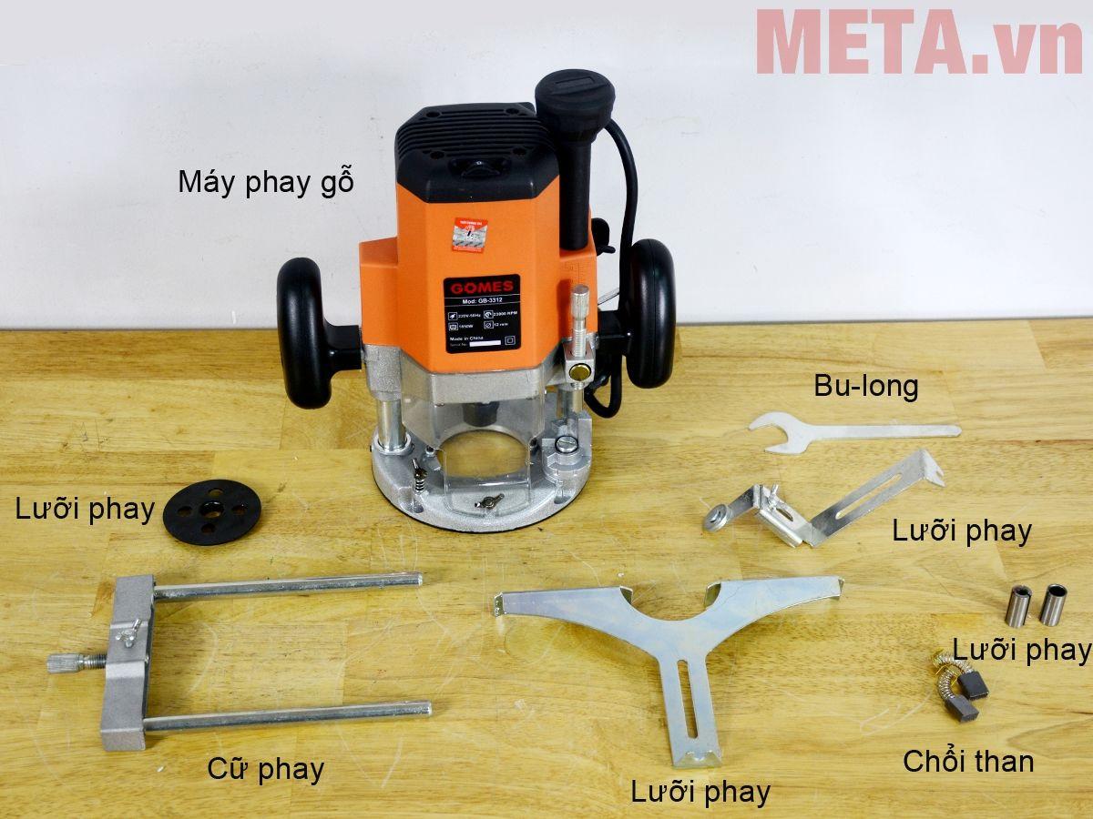 Trọn bộ sản phẩm máy phay gỗ Gomes