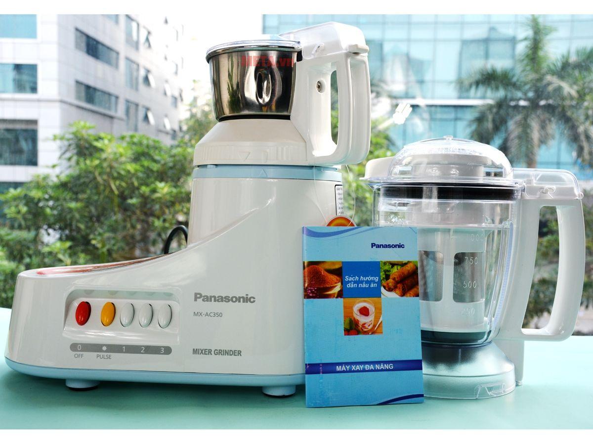Máy xay đa năng Panasonic MX-AC350WRA có cối inox