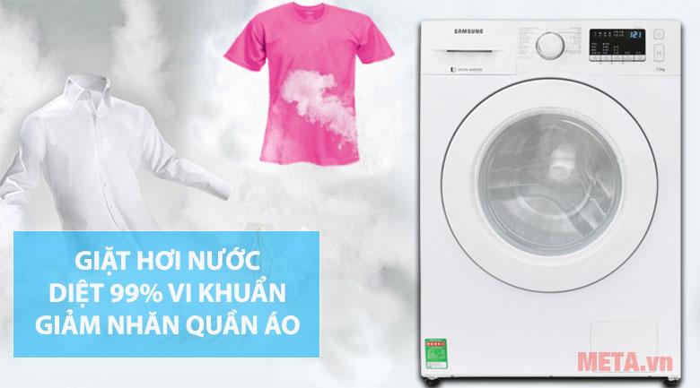 Giặt hới nước diệt khuẩn, giảm nhăn quần áo