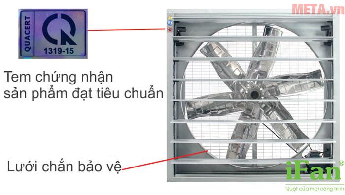 Lưới chắn bảo vệ đảm bảo an toàn cho người dùng