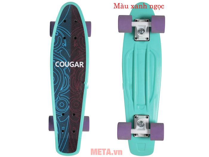 Ván trượt Cougar Penny QJ màu xanh ngọc