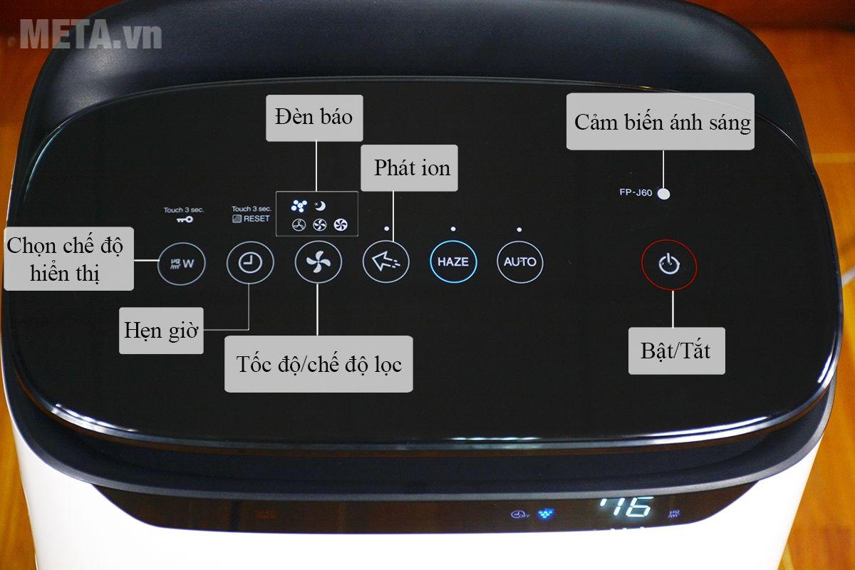 Bảng điều khiển của máy lọc