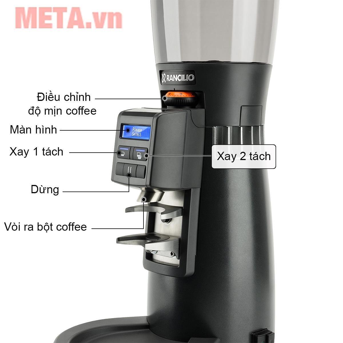 Bảng điều khiển của máy xay cà phê