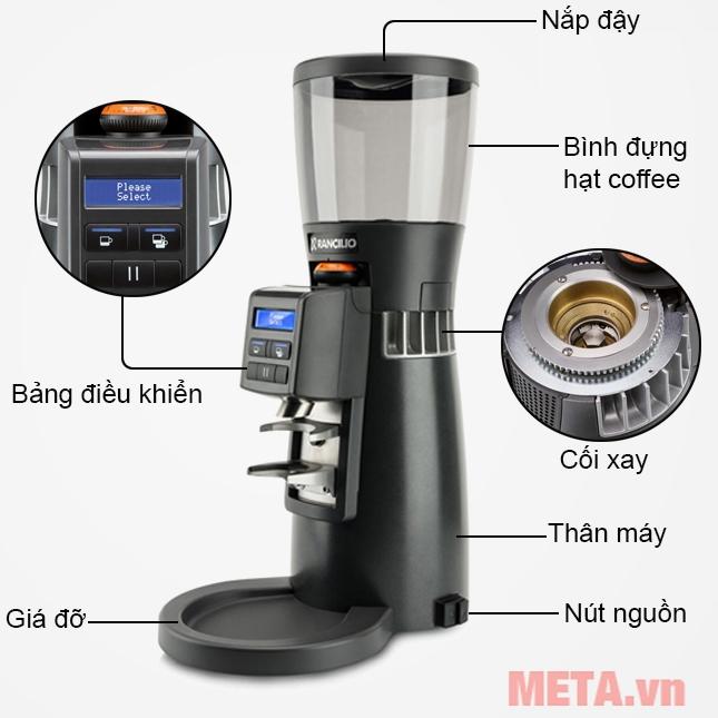 Cấu tạo máy xay cà phê Rancilio KRYO 65 OD