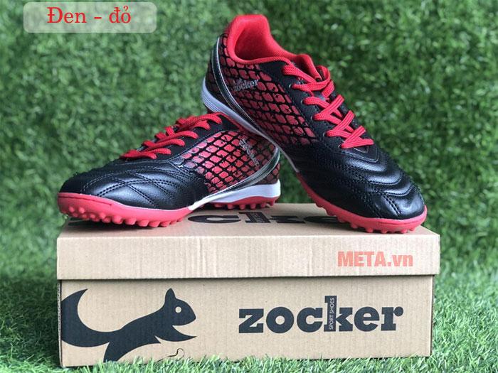 Giày đá bóng Zocker ZTF 18VT màu đen đỏ
