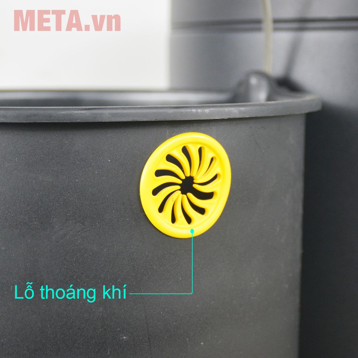 Thùng rác inox đạp tròn nhỏ Fitis RPS1-903 màu đen