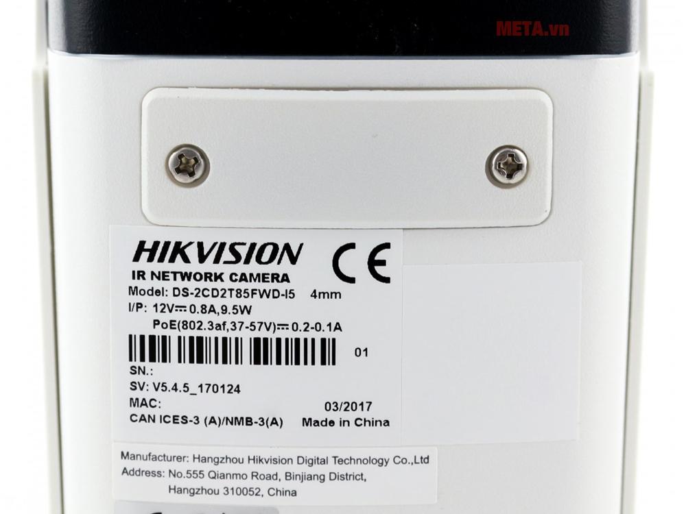 Camera chất liệu kim loại, cấp bảo vệ IP67 chịu thời tiết tốt