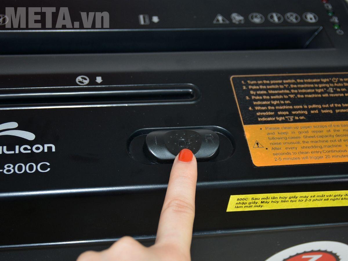 Máy hủy tài liệu Silicon PS-800C có chức năng chống kẹt giấy