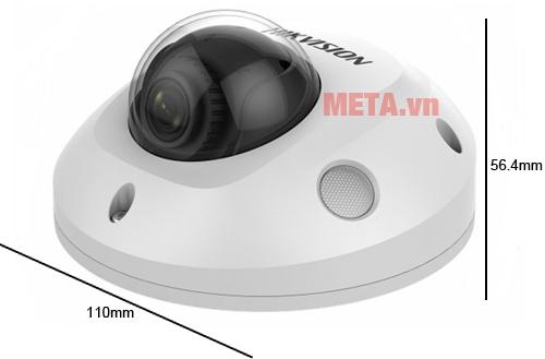 Kích thước sản phẩm Camera lắp trần Hikvision DS-2CD2523G0-I