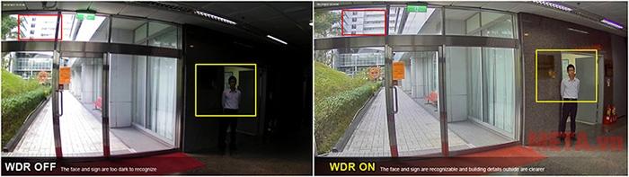 Camera hỗ trợ ánh sáng, quan sát chi tiết và rõ ràng đối tượng