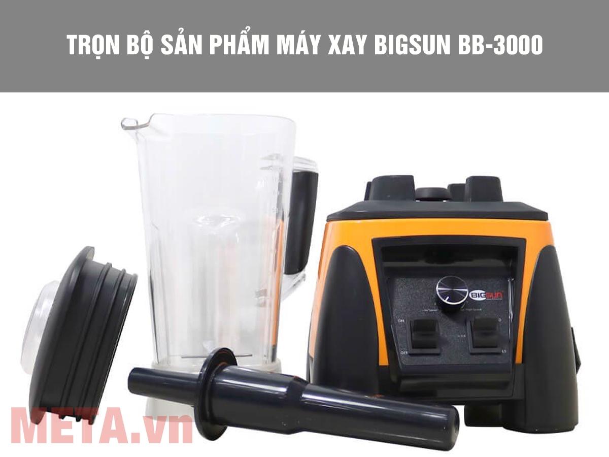 Trọn bộ sản phẩm máy xay sinh tố Bigsun