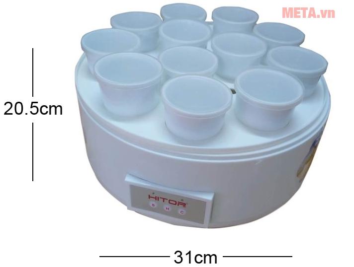 Kích thước máy làm caramen và sữa chua Hitops HT-83