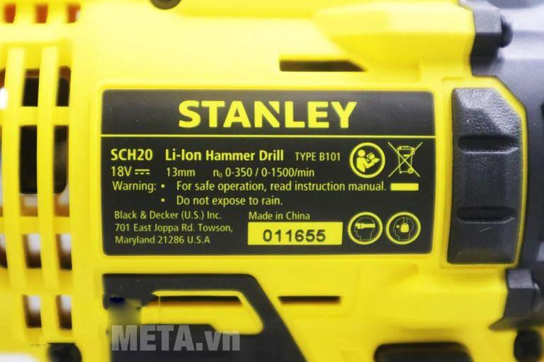 Stanley SCH20N 18V