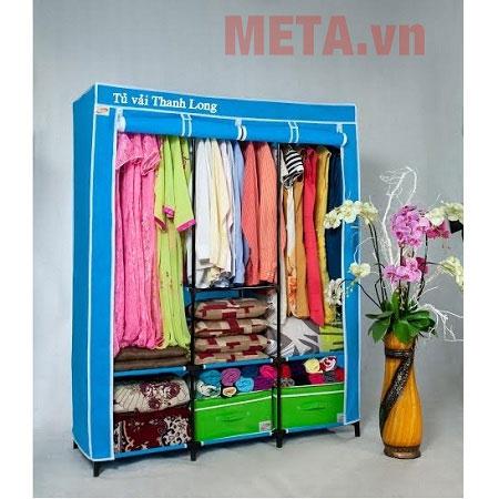 Tủ vải Thanh Long TVAI14 màu xanh biển