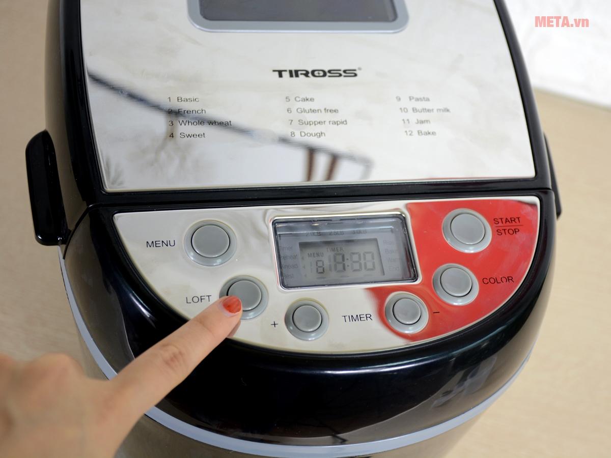 Bảng điều khiển máy làm bánh mì Tiross TS-822