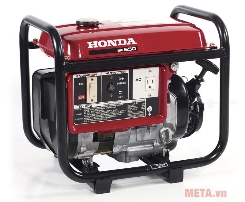 Máy phát điện mini chạy xăng Honda EP650 khởi động bằng giật nổ.