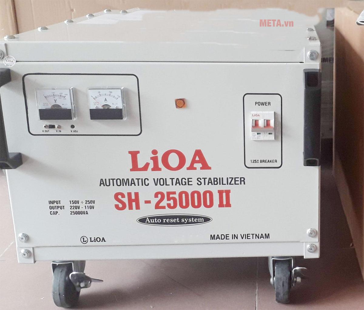 Ổn áp 1 pha Lioa 25KVA SH 25000 có đồng hồ hiển thị điện áp vào/ra