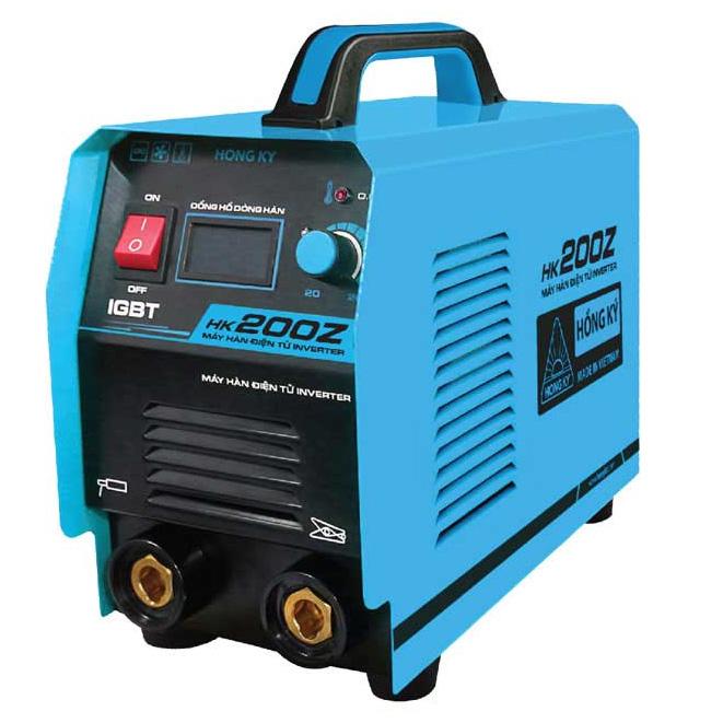 Máy hàn điện tử HK 200Z hoạt động với công suất mạnh mẽ