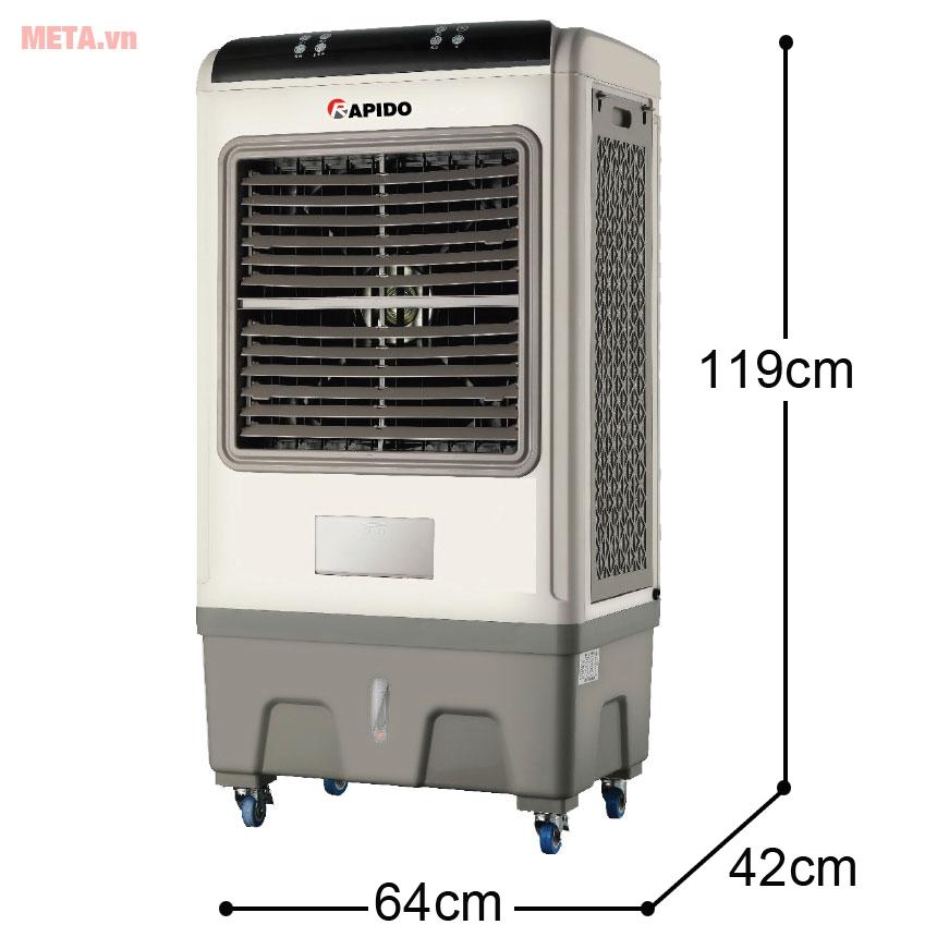 Kích thước máy làm mát không khí Rapido 8000BR