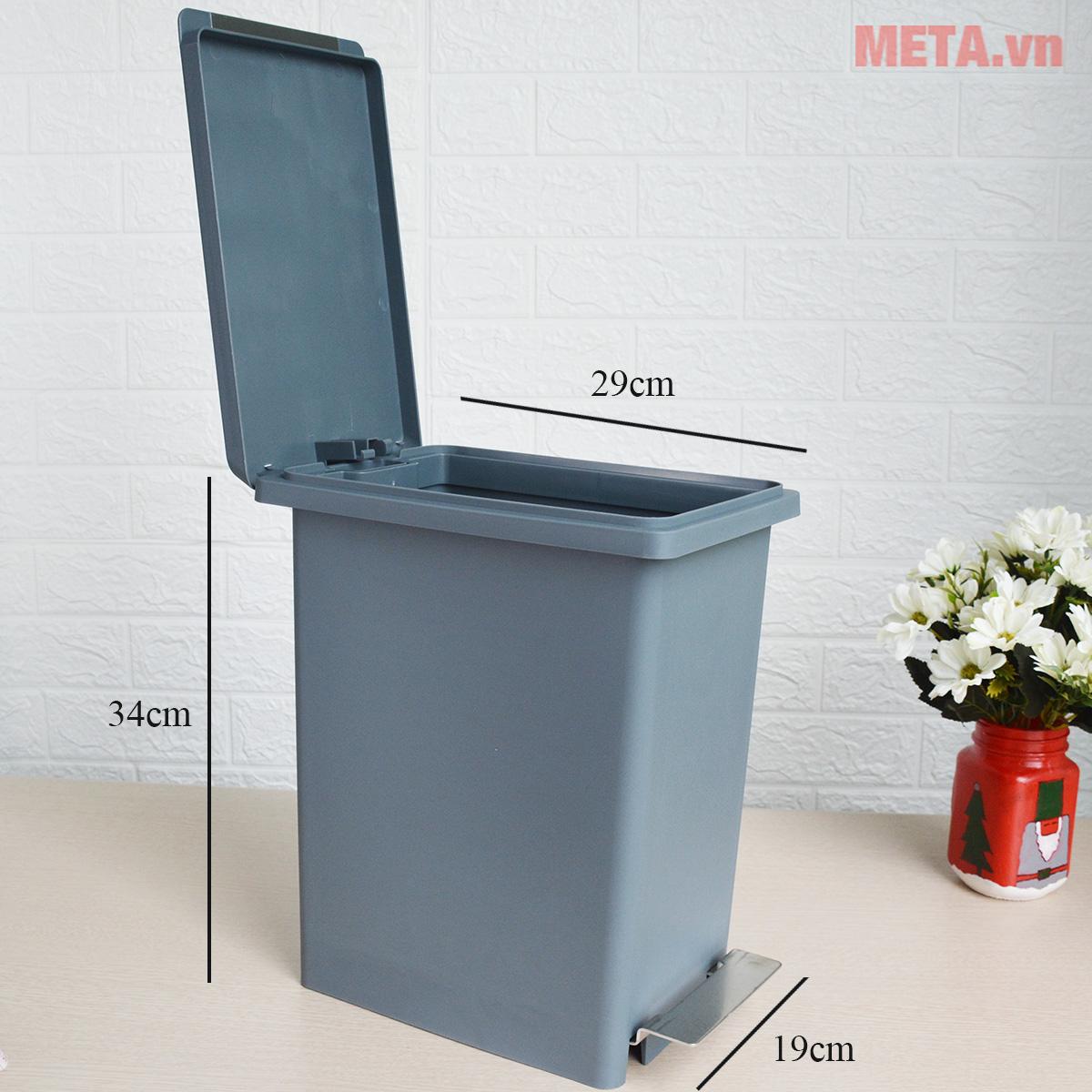 Kích thước của thùng rác