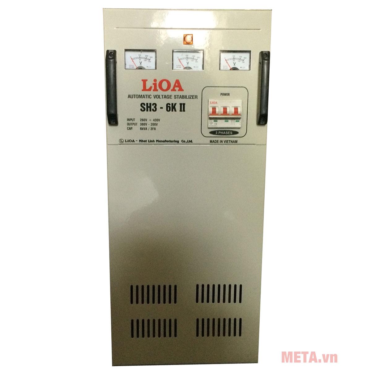 Ổn áp 3 pha Lioa 6KVA SH3 6K hàng Việt Nam