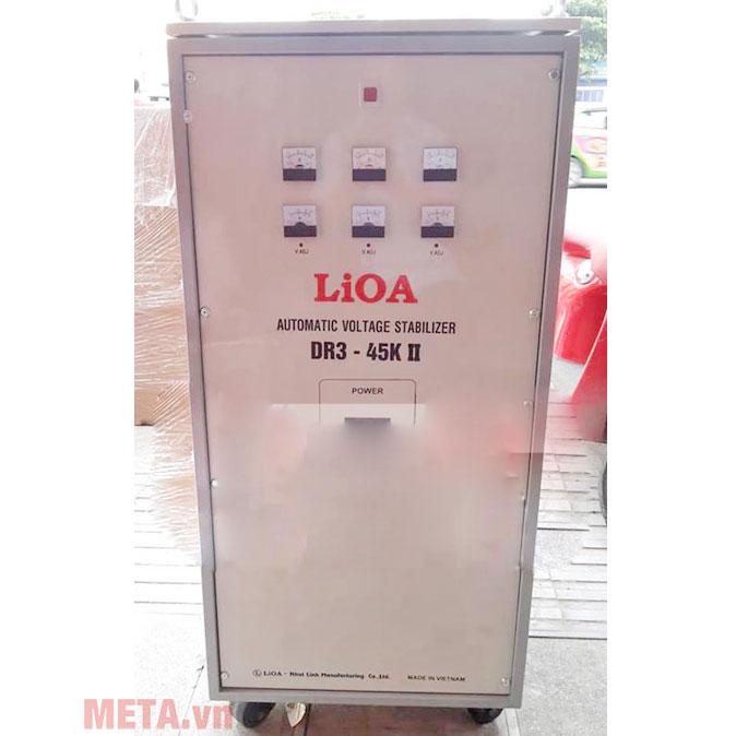 Ổn áp 3 pha Lioa 45KVA DR3 45K trang bị bánh xe dễ di chuyển