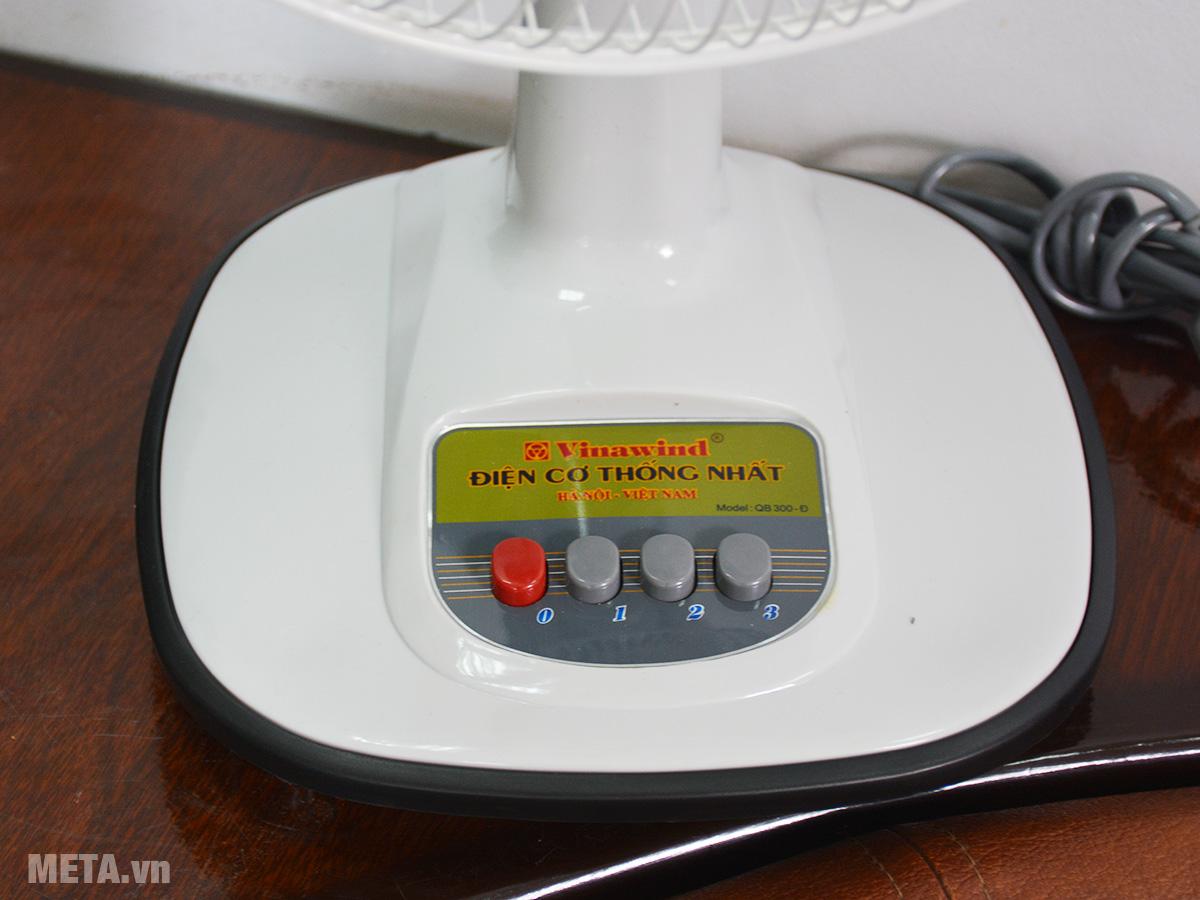 Quạt bàn sử dụng phím cơ