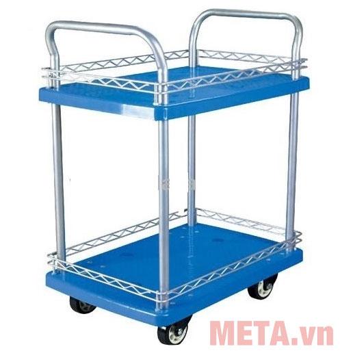 Xe đẩy sàn nhựa 2 tầng trọng tải 150kg