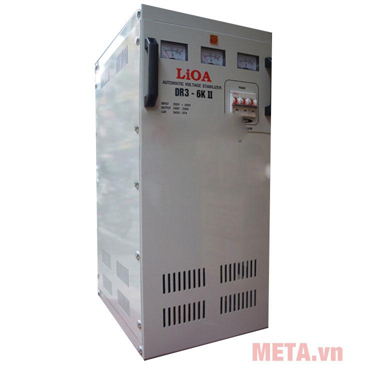 Ổn áp 3 pha Lioa 6KVA DR3-6K sử dụng nguyên lý điều khiển động cơ Servo 1 chiều